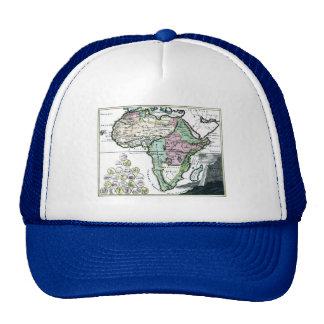 1720 Africa Vetus Map Hat