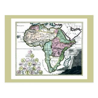 1720 Africa Vetus Map Postcards