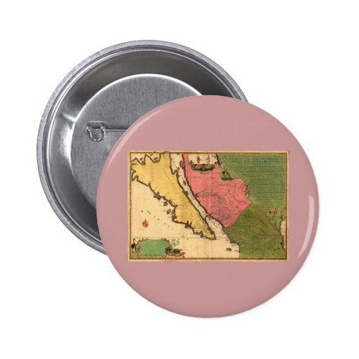 1720 Map - La Californie ou Nouvelle Caroline Pin
