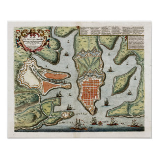 1725 Malta Map Posters