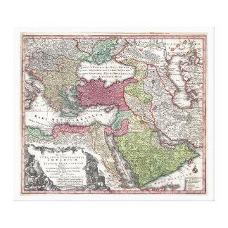 1730 Seutter Map of Turkey (Ottoman Empire) Gallery Wrap Canvas