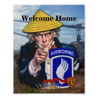 173rd ABN Airborne Brigade Sky Soldiers Vietnam Poster