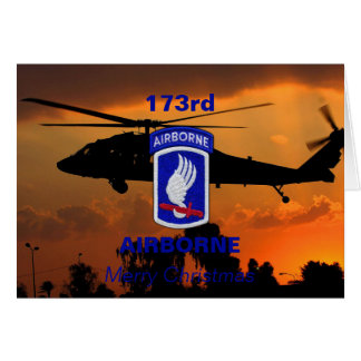 173rd ABN airborne brigade vets veterans patch Card