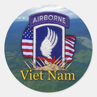 173rd ABN airborne brigade vietnam veterans vets Classic Round Sticker