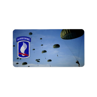 173rd ABN BDE Airborne Brigade Sky Soldiers Vets Label