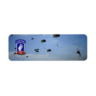 173rd airborne brigade veterans return address return address label