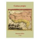 1743 West Africa Map Postcard