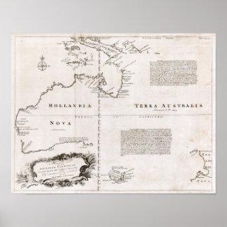 1744 Australia Map Print