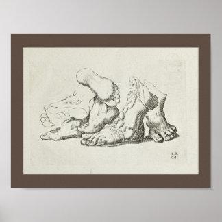 1747 Artistic Anatomy Foot Art Print