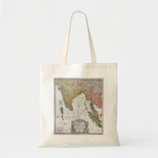 1748 Homann Heirs Map of India and Southeast Asia Budget Tote Bag