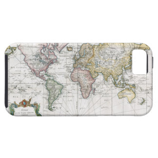 1748 World Map Tough iPhone 5 Case