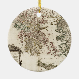 1752 Map of Ancient Greece Ceramic Ornament