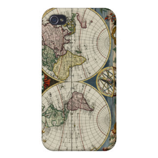 1759 World Map iPhone 4 Covers
