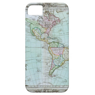 1764 Map of the Americas by Louis Brion de la Tour iPhone 5 Covers