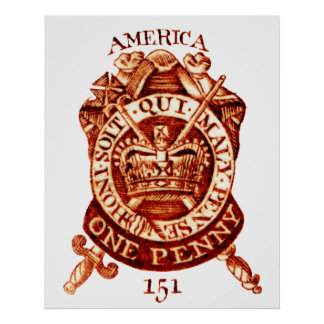 1765 American Tax Stamp Poster