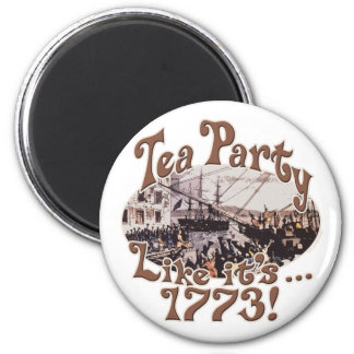 1773 Boston Tea Party Shirts and Gifts for Today 6 Cm Round Magnet