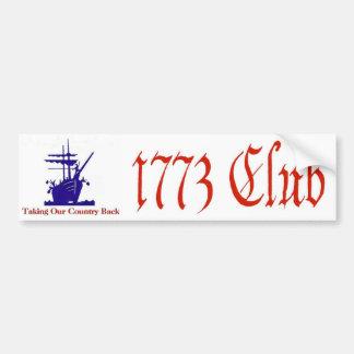 1773 Club Bumper Sticker Car Bumper Sticker