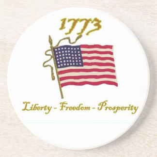 1773 Liberty Freedom Prosperity Drink Coasters