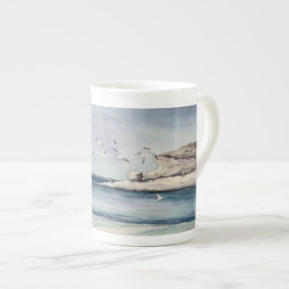 1774 Seagulls at Sandy Beach Tea Cup