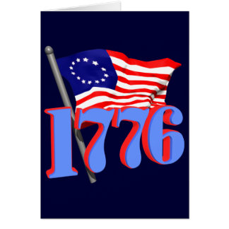 1776 American Flag Cards