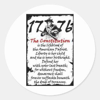 1776 CLASSIC ROUND STICKER