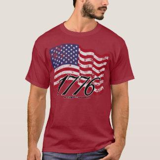 1776 Distressed American Flag T-Shirt