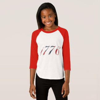1776 Girl's Raglan T-Shirt