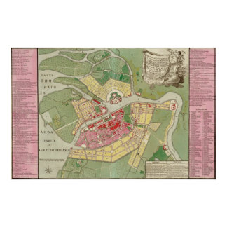 1776 Map of St. Petersburg Poster