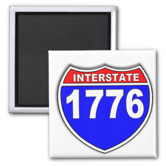 1776 Patriotic 4th of July Square Magnet