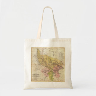 1777 Rennell Dury Wall Map of Delhi and Agra India Budget Tote Bag