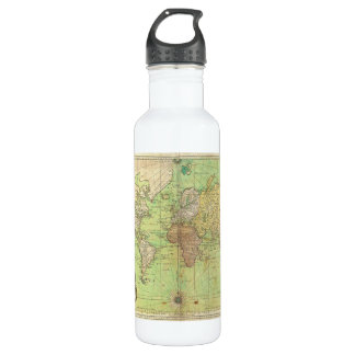 1778 Bellin Nautical Chart or Map of the World 710 Ml Water Bottle