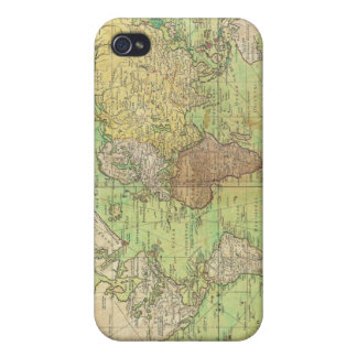 1778 Bellin Nautical Chart or Map of the World Covers For iPhone 4