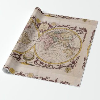 1782 Map of the World by George Augustus Baldwyn Wrapping Paper