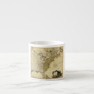 1784 Map of the United States of America by Faden Espresso Mug