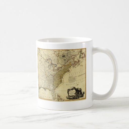 1784 Map of the United States of America by Faden Mugs
