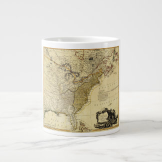 1784 Map of the United States of America by Faden 20 Oz Large Ceramic Coffee Mug