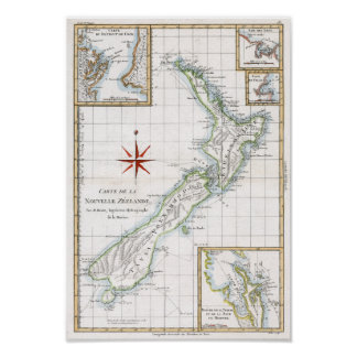 1787 New Zealand Map Posters