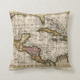 1790 Map of The West Indies by Dilly and Robinson Throw Pillow