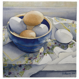 1791 Eggs in Blue Bowl Napkins