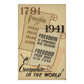 1791 - Freedom of speech. . . Posters
