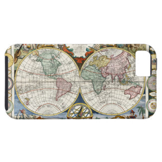 1791 World Map iPhone 5 Cases