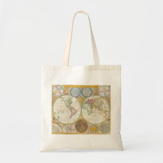 1794 Samuel Dunn Map of the World in Hemispheres Budget Tote Bag