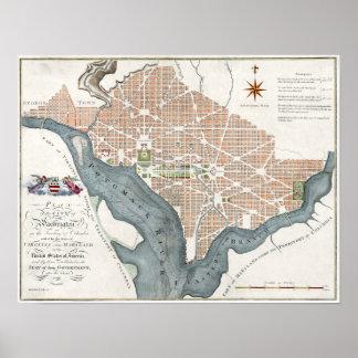 1795 Plan of the City of Washington Poster