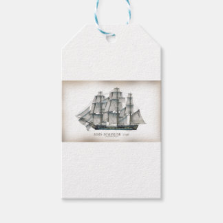 1796 HMS Surprise aged Gift Tags