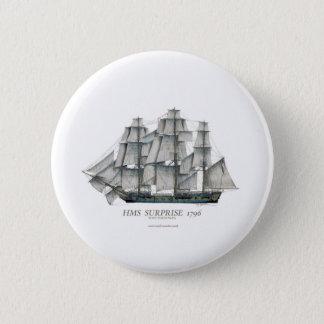 1796 HMS Surprise art 6 Cm Round Badge