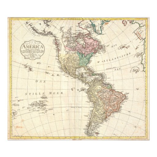 1796 Mannert Map of North and South America Photograph