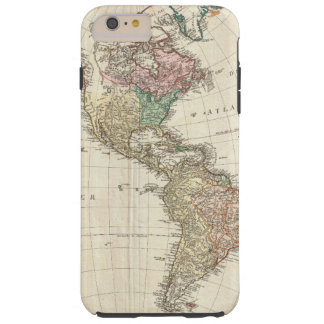1796 Mannert Map of North and South America Tough iPhone 6 Plus Case
