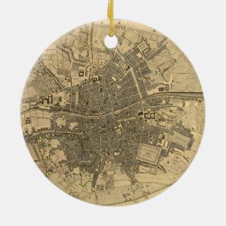 1797 Map of Dublin Ireland Ceramic Ornament