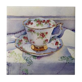 1799 Teacup on Linen Tile