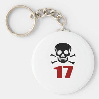 17 Birthday Designs Key Ring
